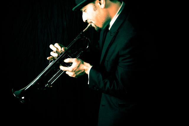 Trumpeter David Perrico is moving into Cleopatra's Barge through October. (Special to View)