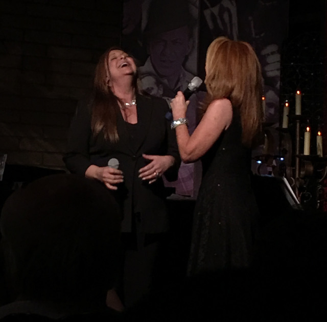 "Lena Prima and Kelly Clinton-Holmes break out, ""Jump, Jive an' Wail"" during a performance Monday at Clinton's open-mic night at Bootlegger Bistro. (Las Vegas Review-Journal/John Katsilometes)"