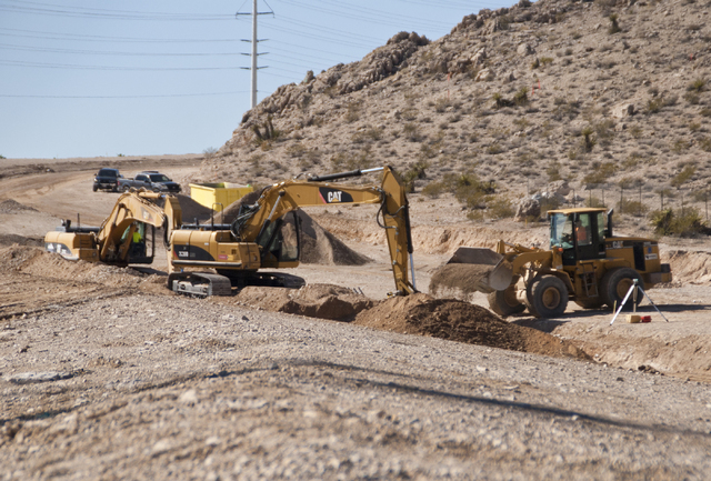 Early work continues at the 300-acre Reverence housing development site near West Lake Mead Boulevard and the 215 Beltway in northwest Las Vegas on Friday, Sept. 16, 2016.  Daniel Clark/Las Vegas  ...