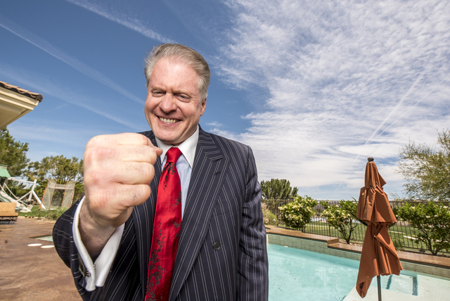 Wayne Allyn Root, poses for a photo at his home in the Anthem community in Henderson, Nev. on Wednesday, May 4, 2016. (Joshua Dahl/Las Vegas Review-Journal)
