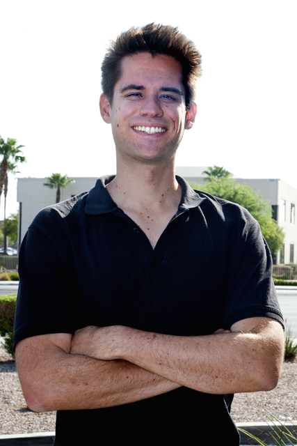 Herbert Moore, co-founder and co-CEO of startup WiseBanyan, talks to the Las Vegas Review-Journal on Thursday, Aug. 25, 2016. (Jeferson Applegate/Las Vegas Review-Journal)