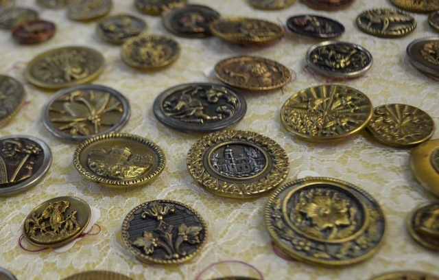 Vintage buttons are among the wares at The Ribbon Store, 572 S. Decatur Blvd. Ginger Meurer/View