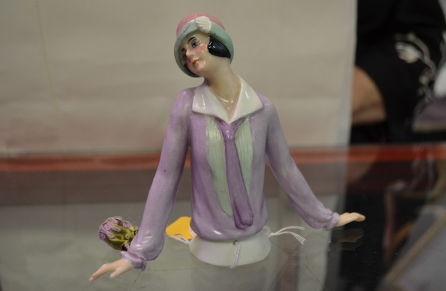 Antique doll tops are among the wares at The Ribbon Store. Ginger Meurer/View