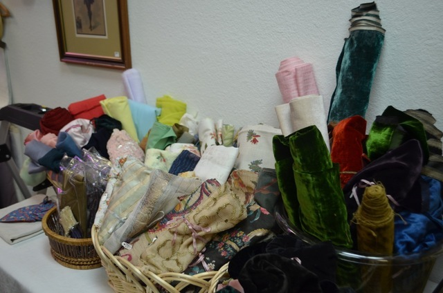 Vintage textiles are among the offerings at The Ribbon Store. Ginger Meurer/View