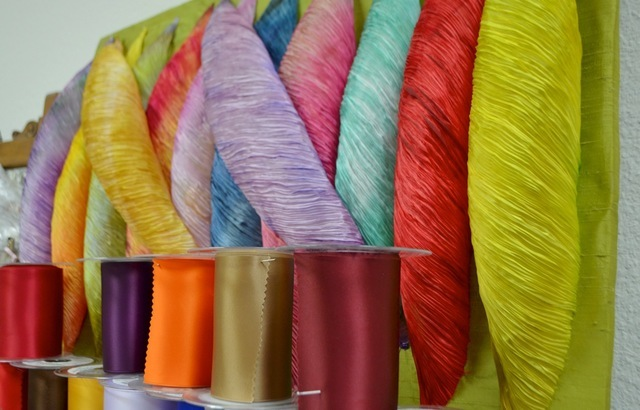 Ribbons of every color fill the shelves at The Ribbon Store, 572 S. Decatur Blvd. Ginger Meurer/View