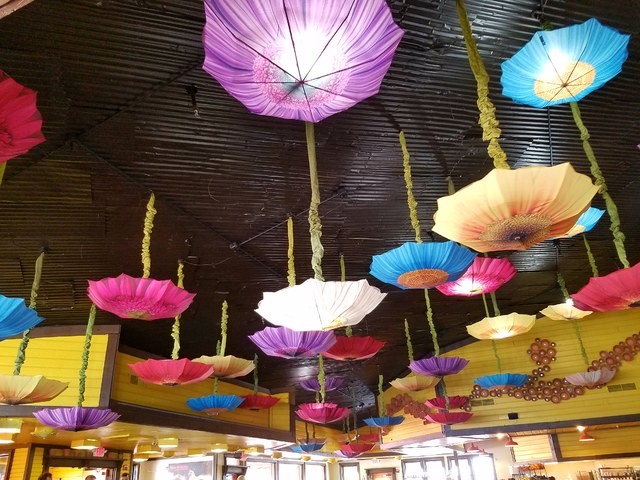 rise and shine lighting. Colorful Flower-themed Parasols Bring Cheer To The Dining Room At Rise \u0026 Shine, And Shine Lighting
