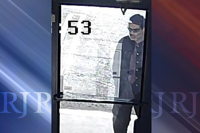 A suspect wanted for multiple September robberies. (Las Vegas Metropolitan Police)