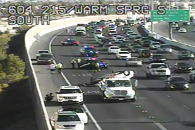 The 215 Beltway southbound near Warm Springs Road. (Nevada Department of Transportation)