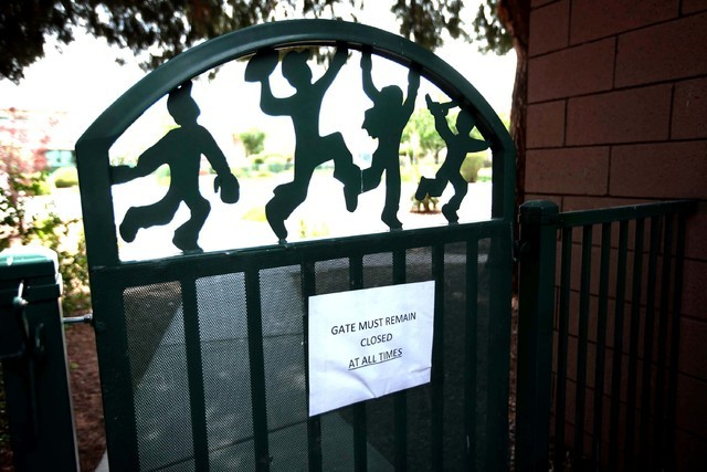 An internal gate is seen on the Child Haven campus in this photo. (Jessica Ebelhar/Las Vegas Review-Journal File)