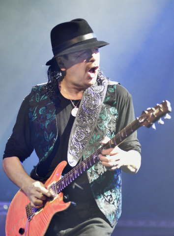 Carlos Santana performs at the House of Blues in Mandalay Bay at 3950 Las Vegas Blvd. S. in Las Vegas on Wednesday, Jan. 21, 2015. (Bill Hughes/Las Vegas Review-Journal)