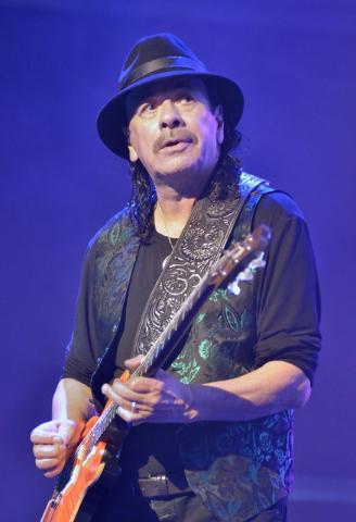 Carlos Santana performs at the House of Blues in Mandalay Bay at 3950 Las Vegas Blvd. S. in Las Vegas on Wednesday, Jan. 21, 2015. (Bill Hughes/Las Vegas Review-Journal)