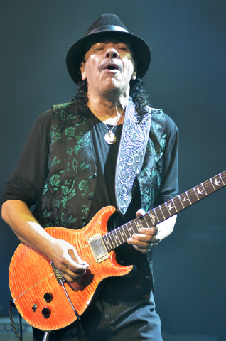 Carlos Santana performs at the House of Blues in Mandalay Bay at 3950 Las Vegas Blvd., South, in Las Vegas on Wednesday, Jan. 21, 2015. (Bill Hughes/Las Vegas Review-Journal)