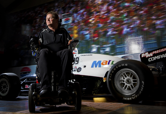 Sam Schmidt, an ex-IndyCar driver paralyzed in a January, 2000 crash, poses for a photo at his home in Henderson, Nevada on Thursday, June 23, 2016, in Las Vegas. (Benjamin Hager/Las Vegas Review- ...