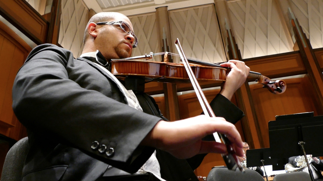 Las Vegas Philharmonic musicians return to the stage of The Smith Center's Reynolds Hall for a season-opening concert that finds them playing Mozart, Mahler and a West Coast premiere. COURTESY LAS ...
