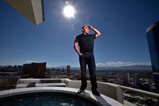 Las Vegas real estate investor Stephen Siegel, founder of the Siegel Group, looks out from his his penthouse home at Turnberry Place Tuesday, Sept. 13, 2016, in Las Vegas. (David Becker/Las Vegas  ...