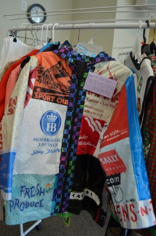 Garment examples, such as this jacket made from plastic bags, were on display during an American Sewing Guild Sit 'n' Sew day Sept. 2 at Windmill Library, 7060 W. Windmill Lane. Ginger Meurer/View