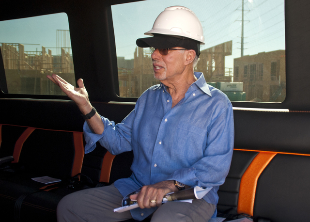 Bob Schulman talks with a reporter inside a Mercedes-Benz van at the future site of the South Beach luxury apartment complex in Las Vegas on Thursday, Sept. 8, 2016. Daniel Clark/Las Vegas Review- ...