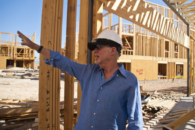 Bob Schulman speaks with a reporter at the future site of the South Beach luxury apartment complex in Las Vegas on Thursday, Sept. 8, 2016. Daniel Clark/Las Vegas Review-Journal Follow @DanJClarkPhoto