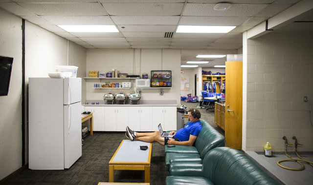 Las Vegas 51s pitching coach Frank Viola relaxes in the clubhouse before the team plays the Salt Lake Bees at Smith's Ballpark in Salt Lake City on Monday, June 20, 2016.  (Chase Stevens/Las Vegas ...