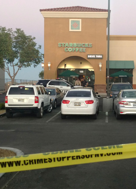 The Starbucks at 7260 S. Rainbow Blvd. in Las Vegas is seen on Sunday Sept. 25, 2016, after a shooting inside the coffee shop. Max Michor/Las Vegas Review-Journal