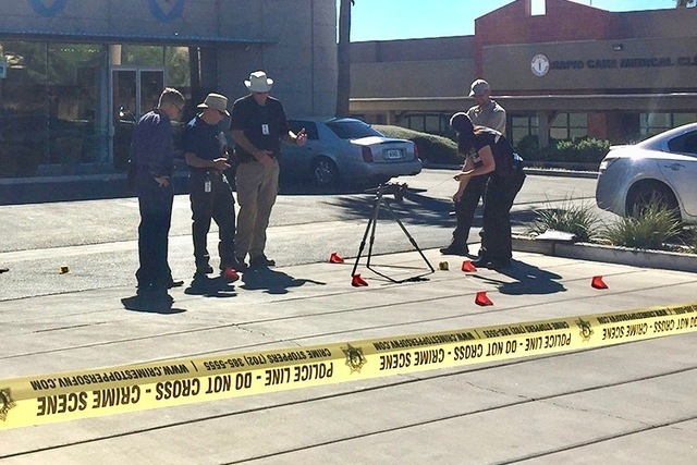 A man was killed in a shooting in Las Vegas' Chinatown district. (Rachel Hershkovitz/Las Vegas Review-Journal)