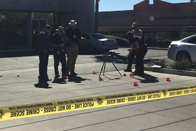 A man was killed in a shooting in Las Vegas' Chinatown district. (Rachel Hershkovitz/Las Vegas Review-Journal)