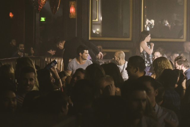 Taylor Lautner parties Friday at club Omnia. (Courtesy)