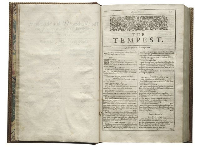 """The Tempest"" -- widely considered Shakespeare's final play -- is one of 18 works first published in the First Folio of 1623, now at UNLV's Lied Library as part of a nationwide tour. (Folger Shake ..."
