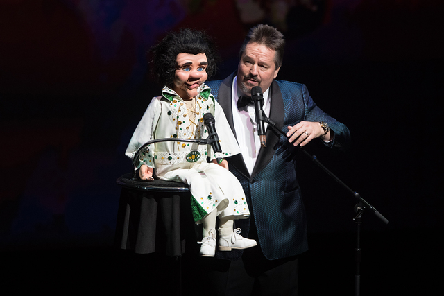 Terry Fator performs during Heal Every Life Possible on Monday, Sept. 12, 2016, at The Luxor. (Tom Donoghue)