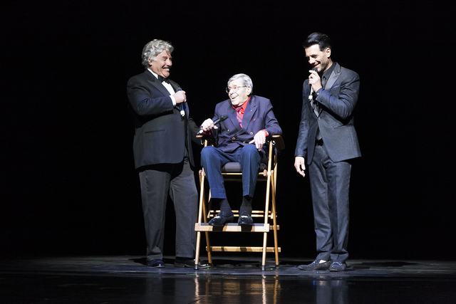 Tony Orlando, Jerry Lewis and Criss Angel during Heal Every Life Possible on Monday, Sept. 12, 2016, at The Luxor. (Jerry Metellus)