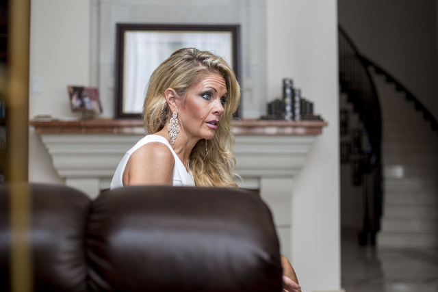 Tracy Rodgers, named Ms. America International 2017 earlier this month, speaks with a reporter in her Henderson home on Wednesday, Aug. 24, 2016. (Elizabeth Page Brumley/Las Vegas Review-Journal)  ...