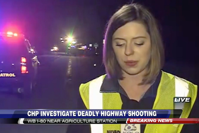 The California Highway Patrol says three people are still wanted in connection with the I-80 shooting that left one person dead Saturday. (Screengrab/KoloTV)