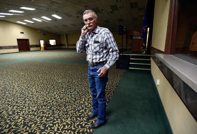 "Ed Spear, tourism director for White Pine County stands in the White Pine County convention center Monday, July 11, 2016, in Ely, Nev. Spear said that the state's ""Loneliest Road&quot ..."