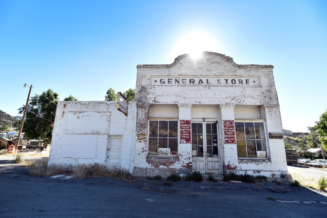 The now closed general store is seen Tuesday, July 12, 2016, in Eureka, Nev. The store, which only closed several years ago, because the death of its owner, catered to motorists for decades along  ...
