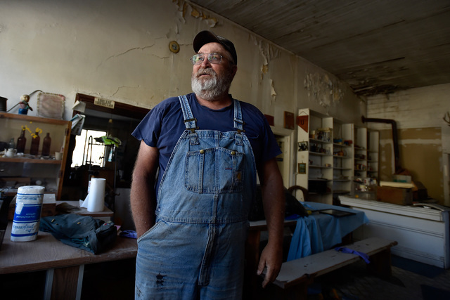 Longtime Eureka resident Tony Rowley shares stories of his mother in the now closed general store Tuesday, July 12, 2016, in Eureka, Nev. The store, which only closed several years ago, because of ...