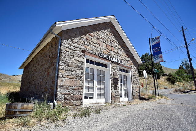 "The Gridley Store, a historic registered building, sits along U.S. Highway 50 in Austin, Nev. Wednesday, July 13, 2016. Since a 1986 Life magazine which dubbed the Nevada portion of the road ""The  ..."