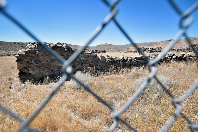 "The ruins of an Overland Stage station is seen fenced off from vandals Wednesday, July 13, 2016, in Cold Springs, Nev. Since a 1986 Life magazine which dubbed the Nevada portion of the road ""The L ..."