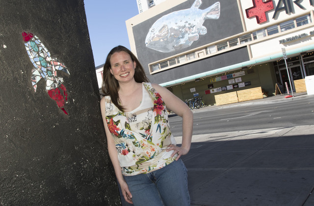 Heather Wilde poses for a photo on the corner of East Fremont Street and 6th Street in downtown Las Vegas on Tuesday, Aug. 16, 2016. Richard Brian/Las Vegas Review-Journal Follow @vegasphotograph