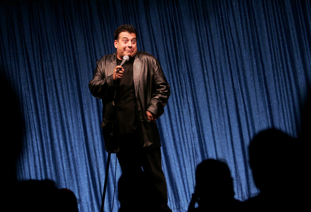 Comedian Vinnie Favorito  performs at the Flamingo hotel-casino in Las Vegas, Sept. 11, 2008. (Louie Traub/Las Vegas Review-Journal)