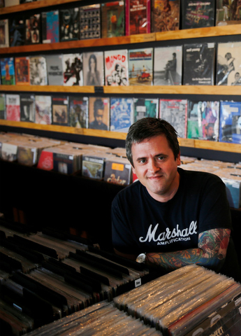 Ronald Corso, owner of 11th Street Records poses for a photo at his record store in Las Vegas, Friday, Sept. 23, 2016. Chitose Suzuki/Las Vegas Review-Journal