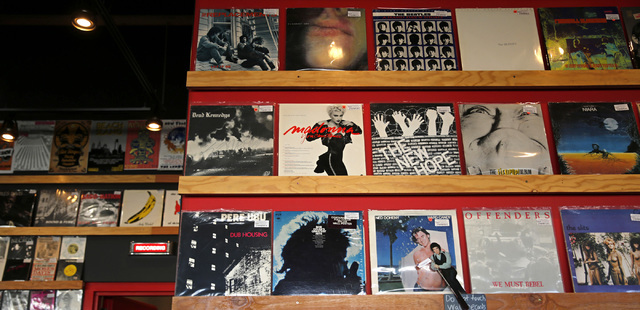 A collection of records is seen at 11th Street Records in Las Vegas, Friday, Sept. 23, 2016. Chitose Suzuki/Las Vegas Review-Journal