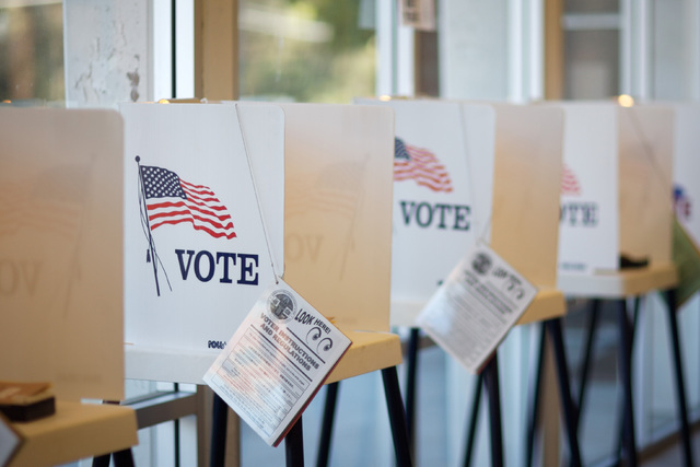 Voting booths (Thinkstock)