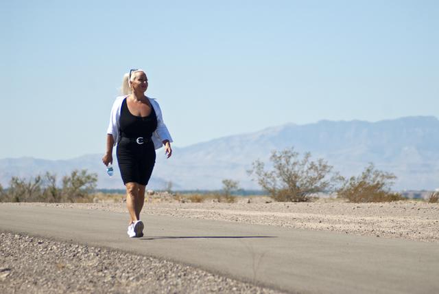 Terry Stowers walks along the Wells Trail in the Clark County Wetlands Park in Henderson on Monday, Sept. 26, 2016. Daniel Clark/Las Vegas Review-Journal Follow @DanJClarkPhoto