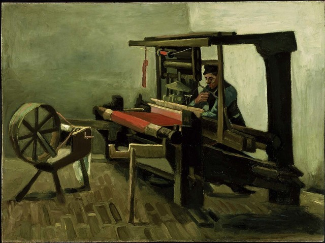 "Vincent van Gogh's ""Weaver"" (1884), featuring in the ""Town and Country"" exhibit opening Friday at Bellagio's Gallery of Fine Art, depicts the title worker, threatened by increasing industrializati ..."