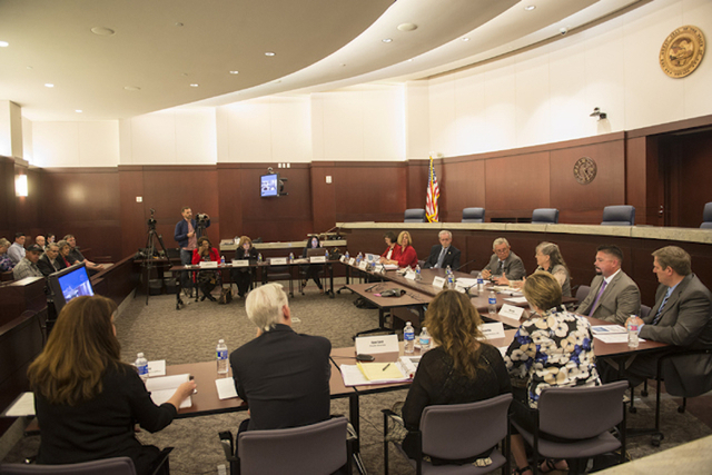 The Nevada Supreme Court panel to discuss how to fix the state's guardianship system meets at the Regional Justice Center in Las Vegas on Friday, April 1, 2016. (Jacob Kepler/Las Vegas Review-Journal)
