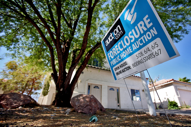 las vegas foreclosures slow still more common than most cities