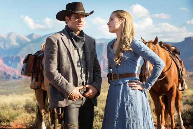 "James Marsden, Evan Rachel Wood in HBO's ""Westworld."" photo: John P. Johnson/HBO"