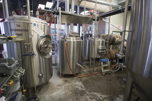 The brewing station is shown at Banger Brewing in Las Vegas on Tuesday, Sept. 13, 2016. Loren Townsley/Las Vegas Review-Journal Follow @lorentownsley