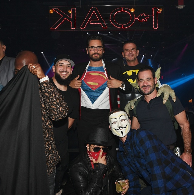 Scott Disick dressed as Clark Kent Saturday at Mirage Club 1 Oak. (Denise Truscello/WireImage)