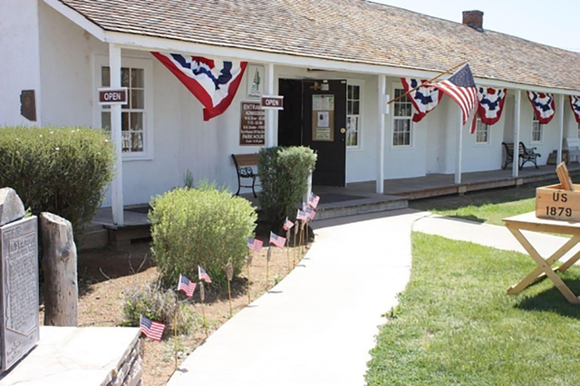 Fort Verde's headquarters building serves as the park's visitor center and houses museum exhibits outlining the fort's history. (Arizona State Parks)